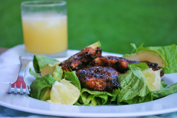 And on this particular night, summer = Tequila-Glazed Chicken Thighs.