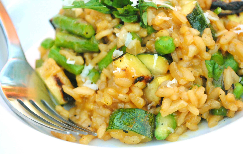 Grilled Summer Vegetable Risotto Bev Cooks