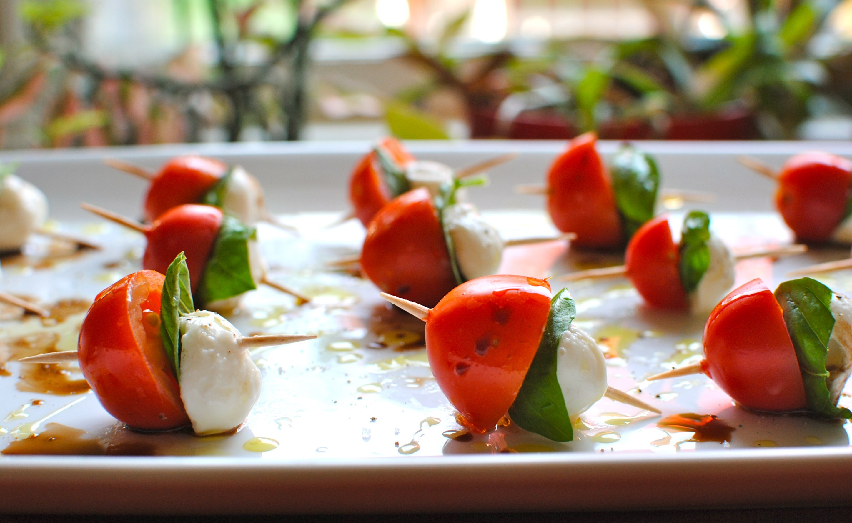 Mini Caprese Salad Skewers | www.galleryhip.com - The Hippest Pics