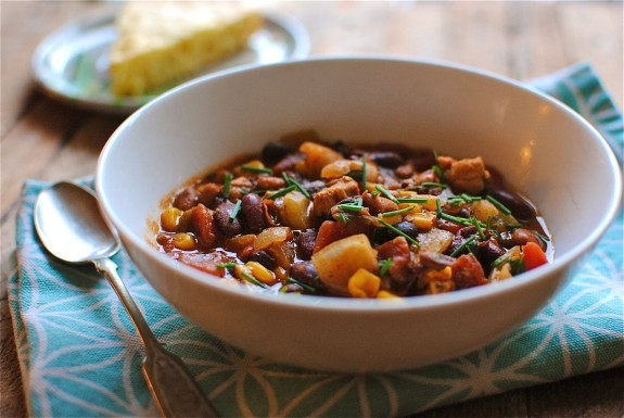 Chili with Chicken and Beans | Bev Cooks