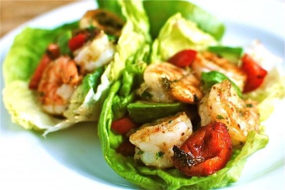 Spicy Shrimp and Avocado Lettuce Cups