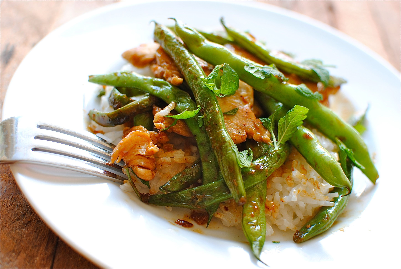 Chicken and Green Bean Stir-Fry - Bev Cooks