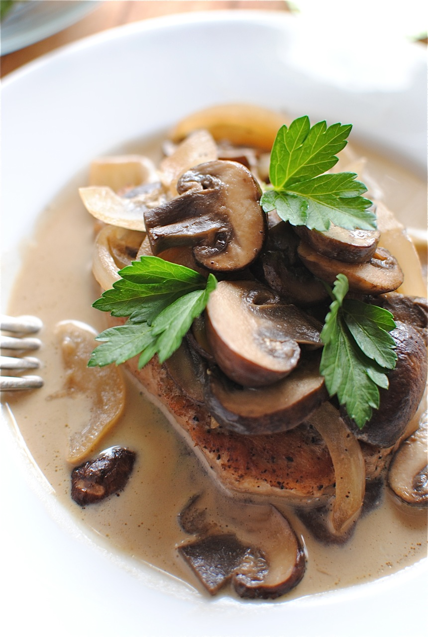 Pork cutlets with mushroom soup recipe