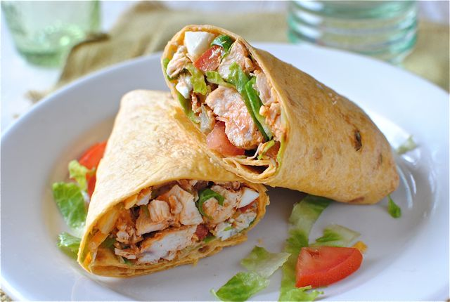 Buffalo Chicken Wraps | Bev Cooks
