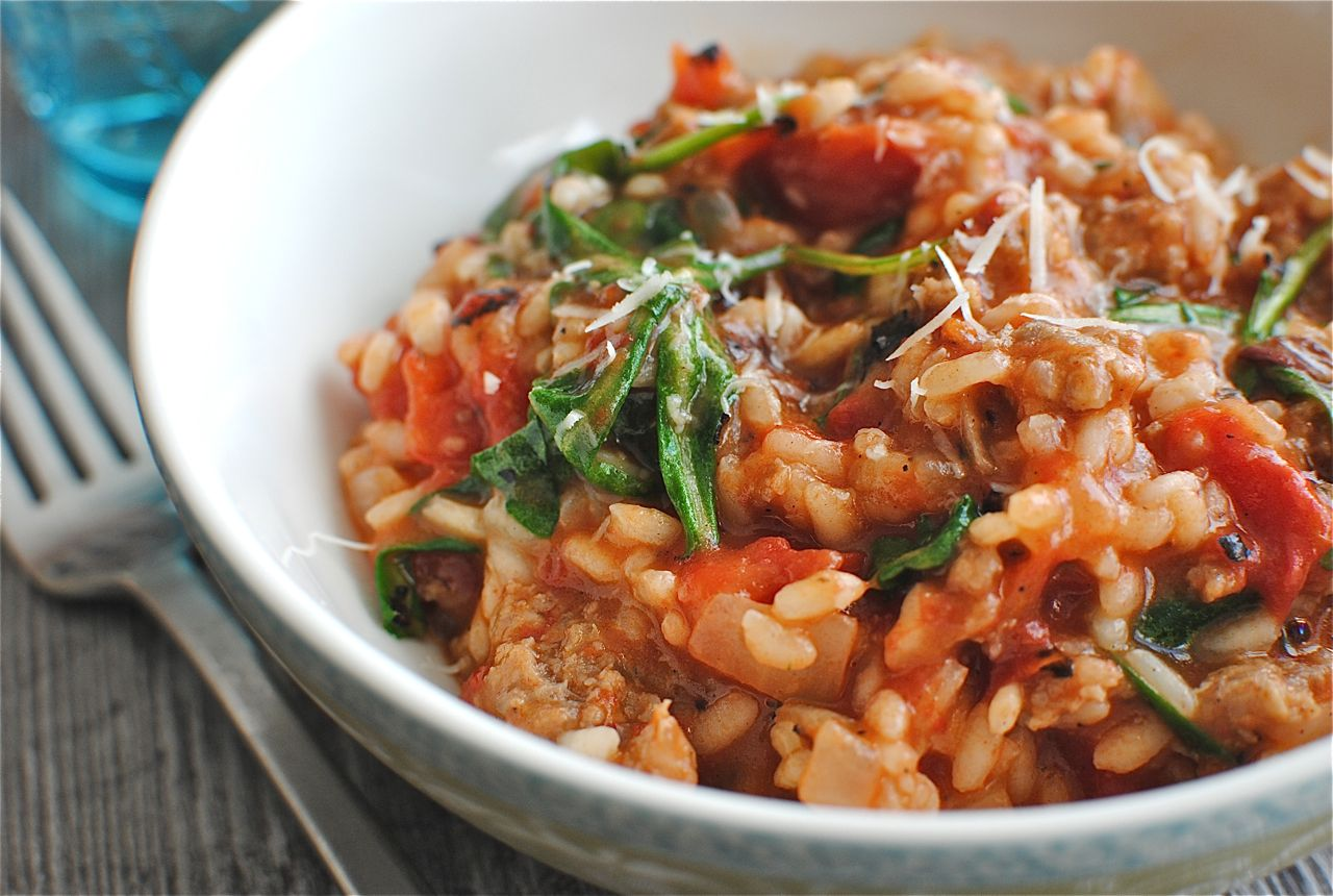 Tomato Sausage And Spinach Risotto Bev Cooks Watermelon Wallpaper Rainbow Find Free HD for Desktop [freshlhys.tk]