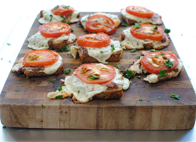 Cheesy canap s egg boats and a rustic slab pizza bev cooks for Italian canape ideas