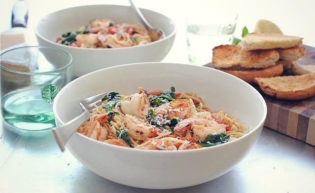 ... prawns lemon chilli stacey in fresh pasta with prawns and lemon oil