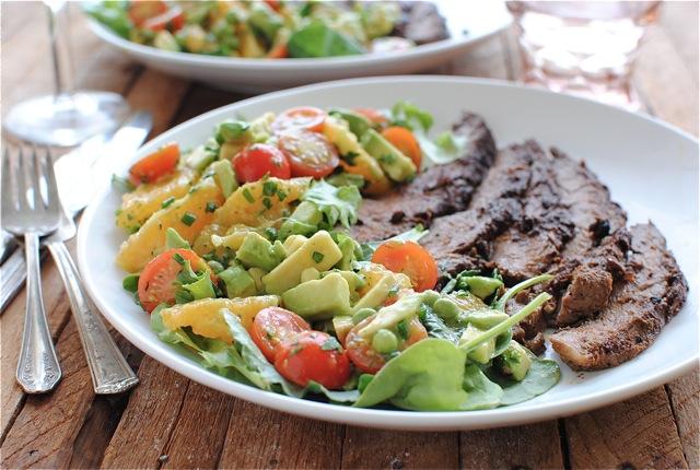 Chicken & Pesto Panini and an Avocado-Citrus Salad | Bev Cooks