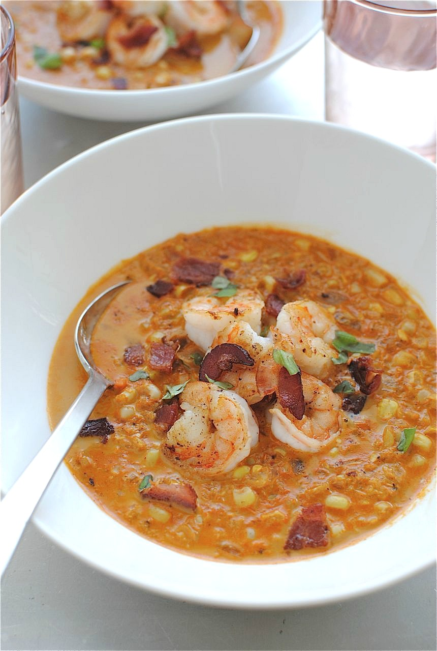 Summer Corn Soup With Shrimp Recipe — Dishmaps