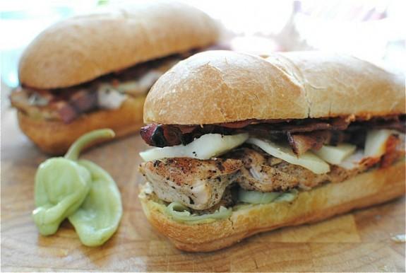 Loaded Italian Chicken Sub Sandwiches | Tip of Recipe