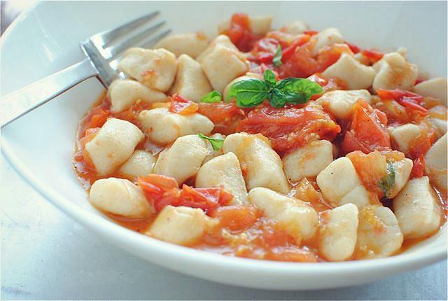Gnocchi With A Light Tomato Sauce Recipe — Dishmaps