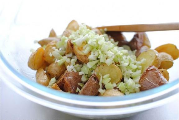Lemony Roasted Potato Salad / Bev Cooks