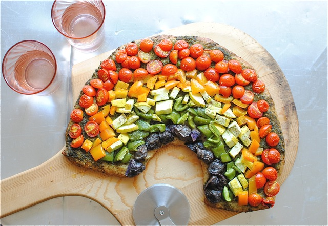 Rainbow Pizza and Truffle Fries with a Wine Dipping Sauce ...