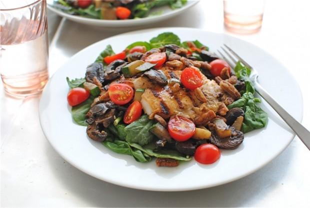 tilapia spinach salad