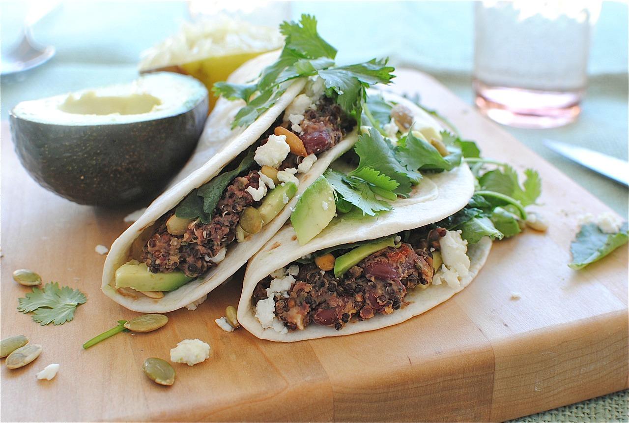 Kidney Bean And Quinoa Soft Tacos Bev Cooks
