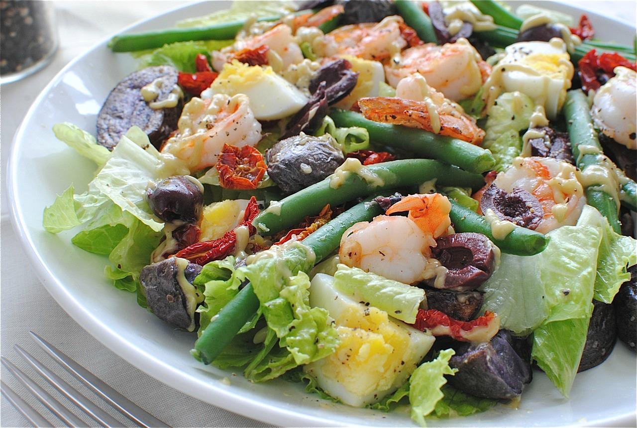 Shrimp Nicoise Salad | Bev Cooks