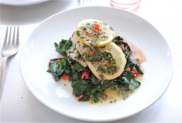 sole with chard