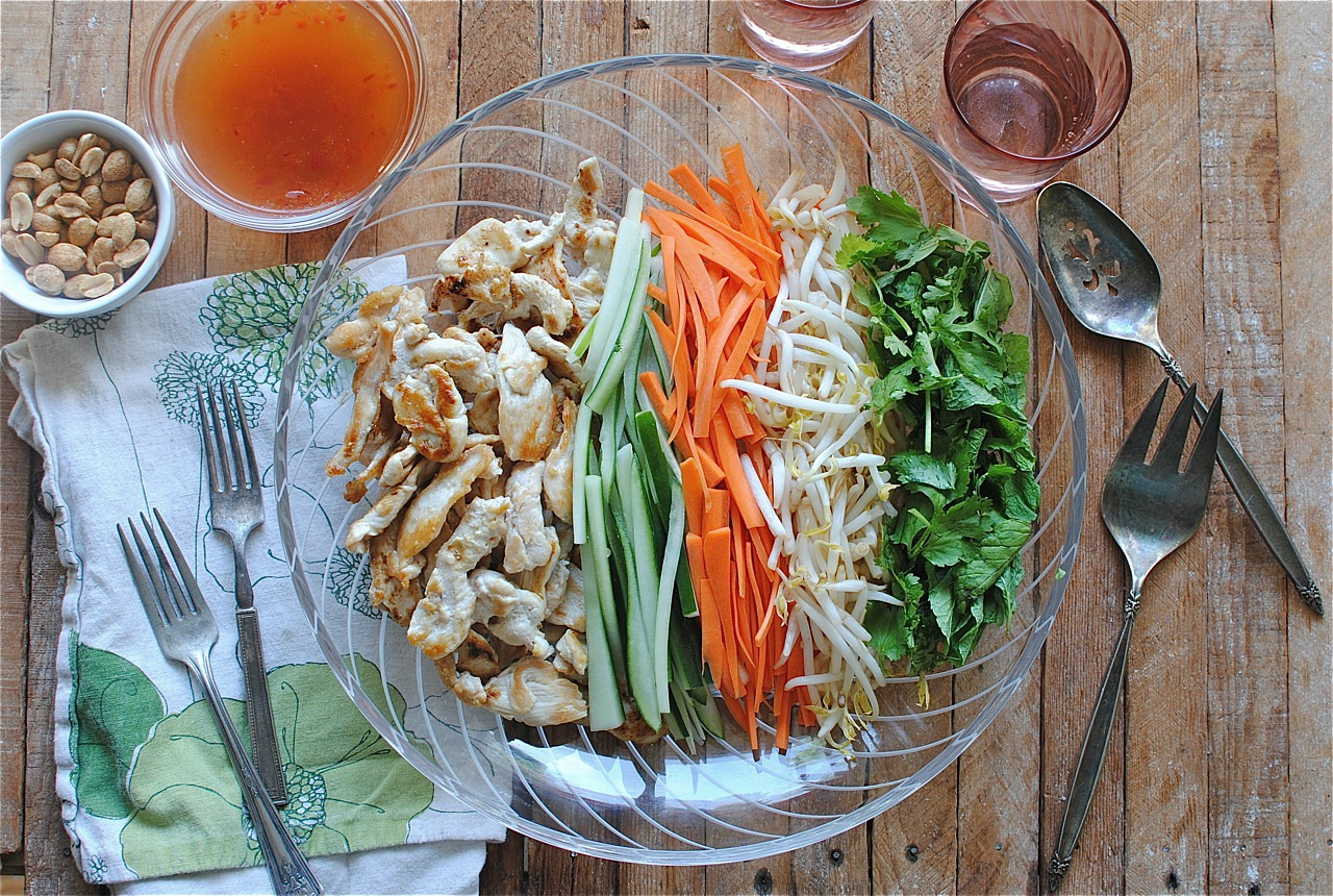 Vietnamese Noodle Salad with ChickenBev Cooks