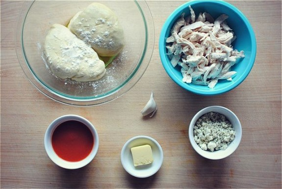 Buffalo Chicken Pull-Apart Bread / Bev Cooks