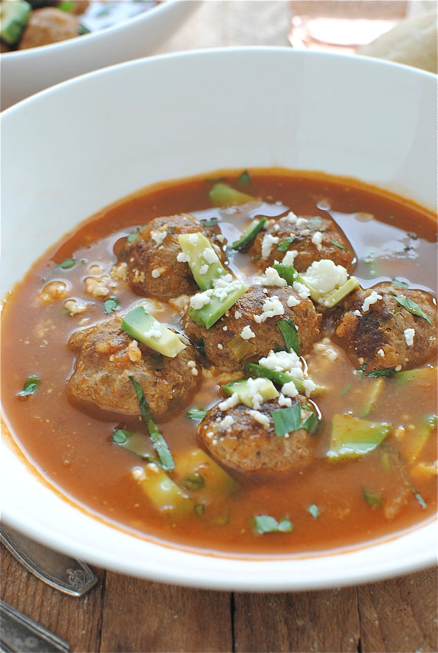 Mexican Meatball Soup | Bev Cooks
