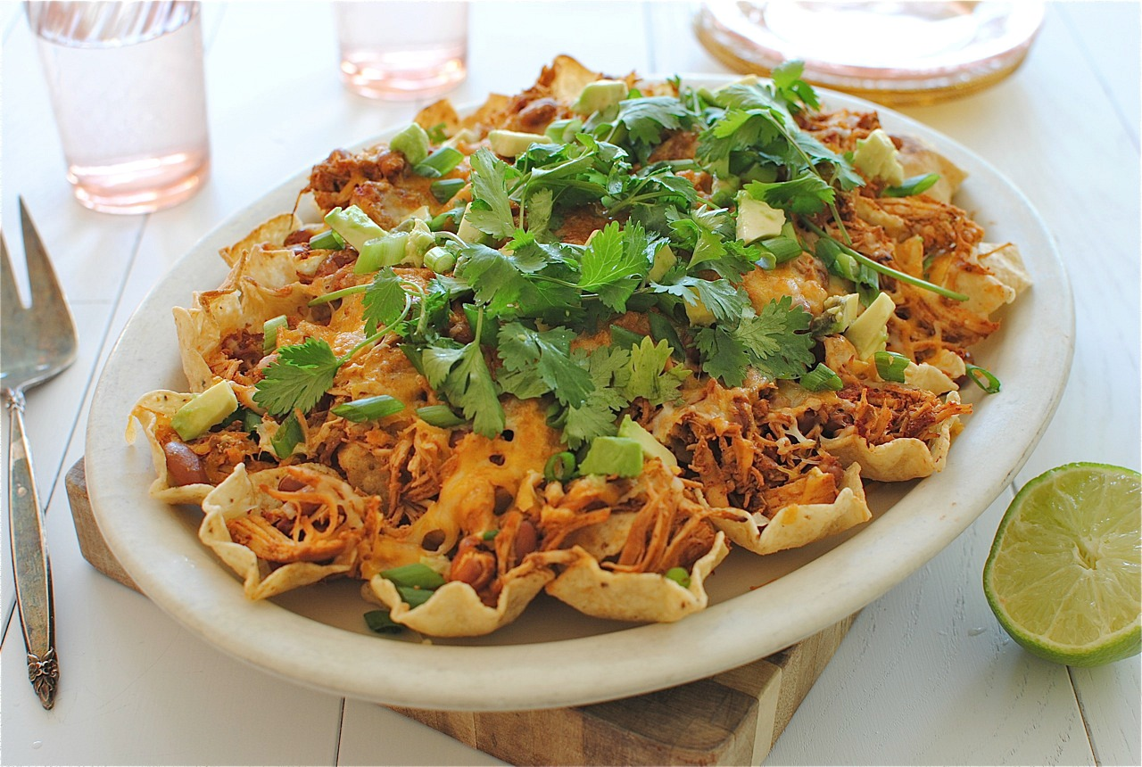 Slow Cooker Chicken Nachos - Bev Cooks