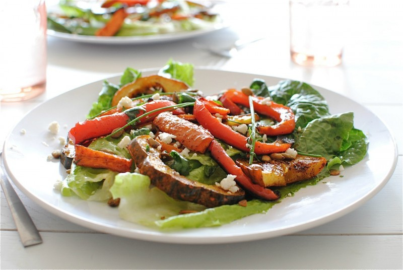 Chili-Roasted Vegetable Salad | Bev Cooks