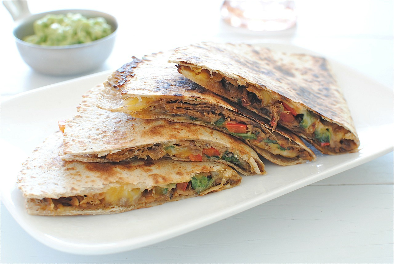 Slow Cooker Chipotle Steak Quesadillas - Bev Cooks