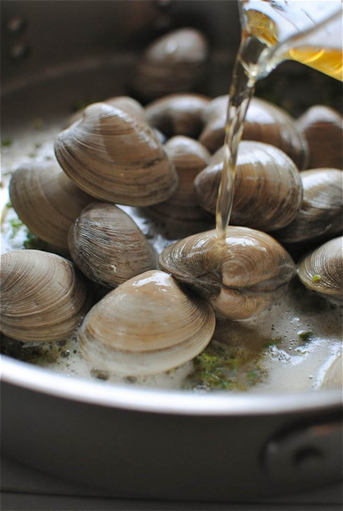Beer-Steamed Clams | Bev Cooks Open Clam