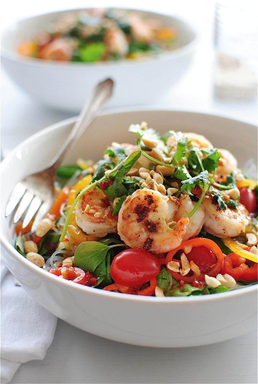 Thai Shrimp Salad | Bev Cooks