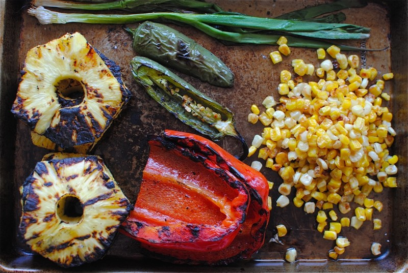 Grilled Pineapple and Corn Salsa / Bev Cooks