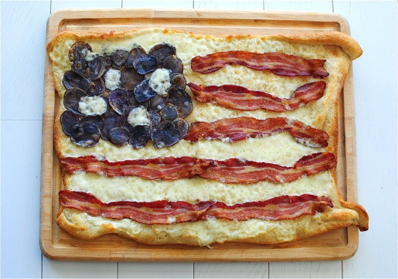 bacon flag pizza