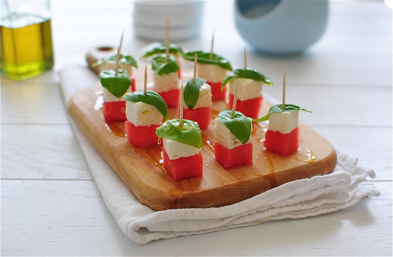 Watermelon Feta Caprese Bites {Tablespoon Tuesdays}   Bev ...