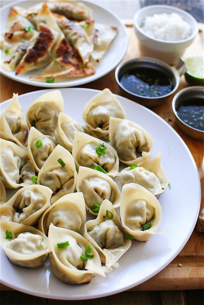 Pan-Fried Pork Dumplings | Bev Cooks