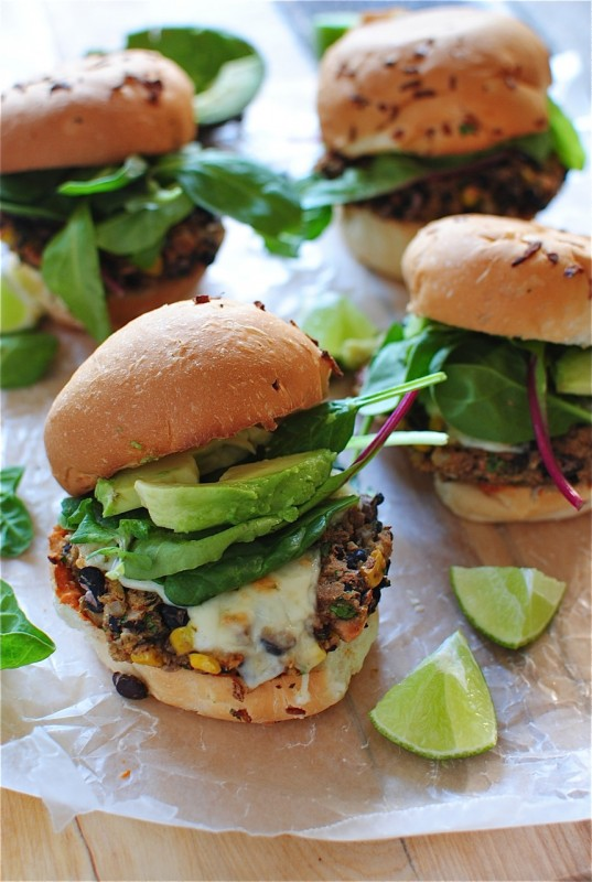 Chipotle Black Bean Burger / Bev Cooks