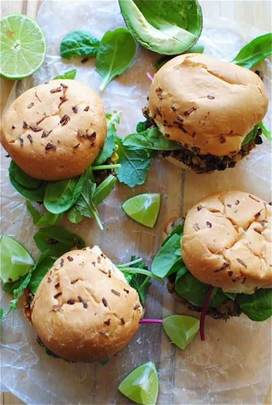 Chipotle Black Bean Burger / Bev Cooks