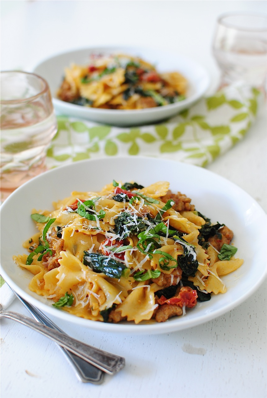 Creamy Bow Tie Pasta With Kale And Sausage Bev Cooks Watermelon Wallpaper Rainbow Find Free HD for Desktop [freshlhys.tk]