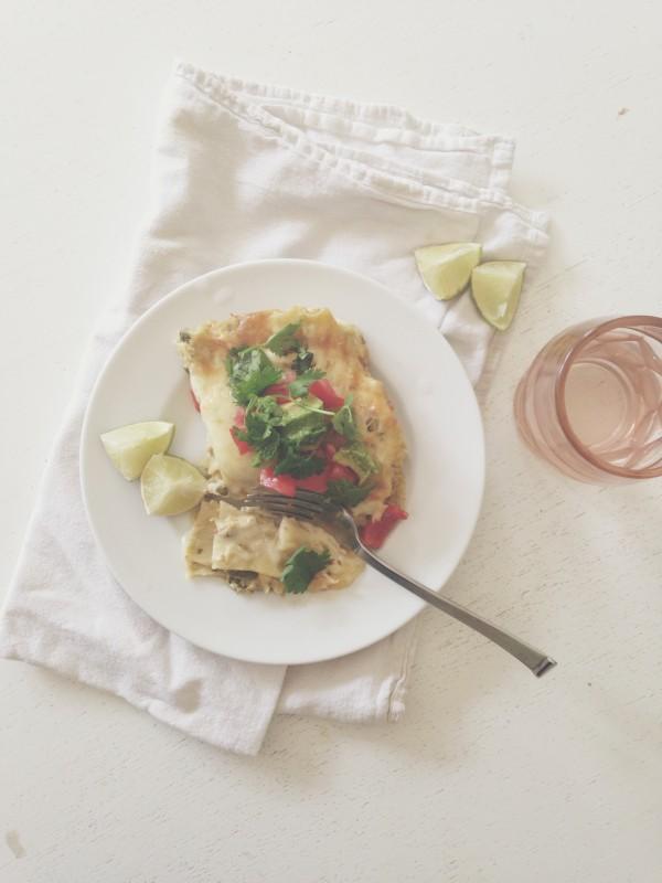 Creamy Chicken and Jalapeno Lasagna