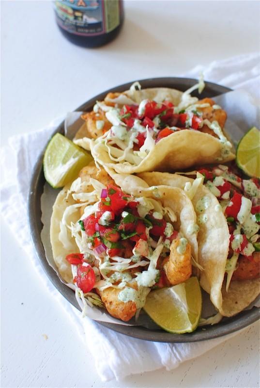 Beer-Battered Catfish Tacos