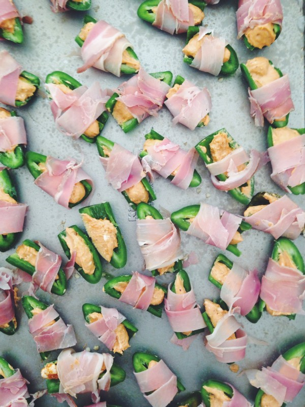 Prosciutto-Wrapped BBQ Jalapeno Poppers