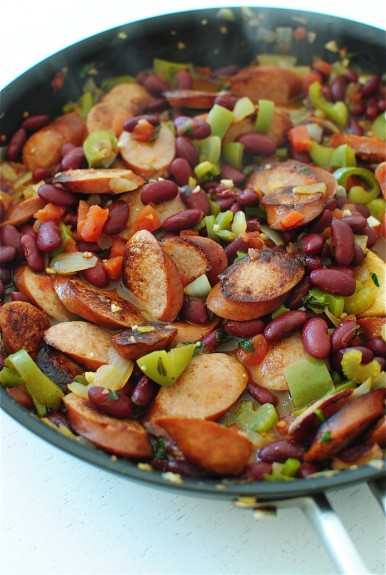 Easy Red Beans and Rice / Bev Cooks