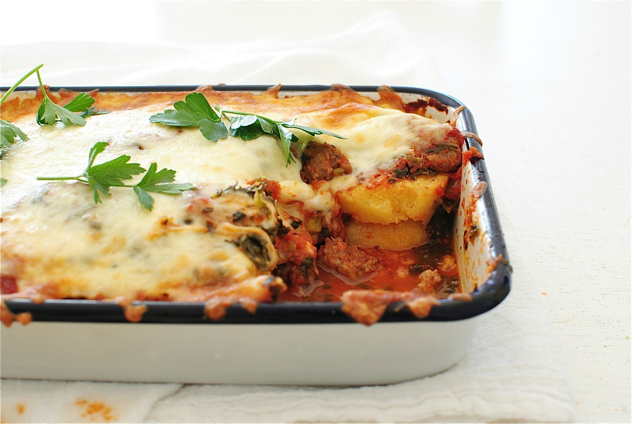 with sausage and artichoke hearts polenta sausage mozzarella casserole ...