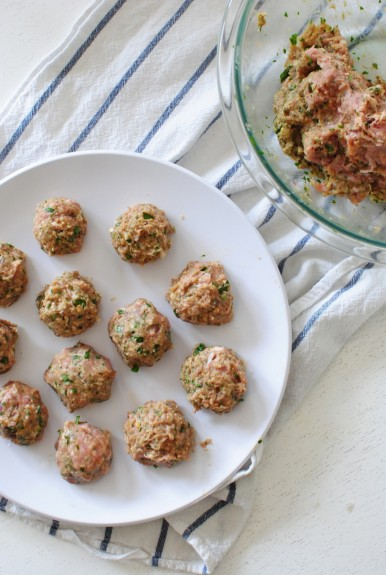 Indian Turkey Meatballs over Rice / Bev Cooks