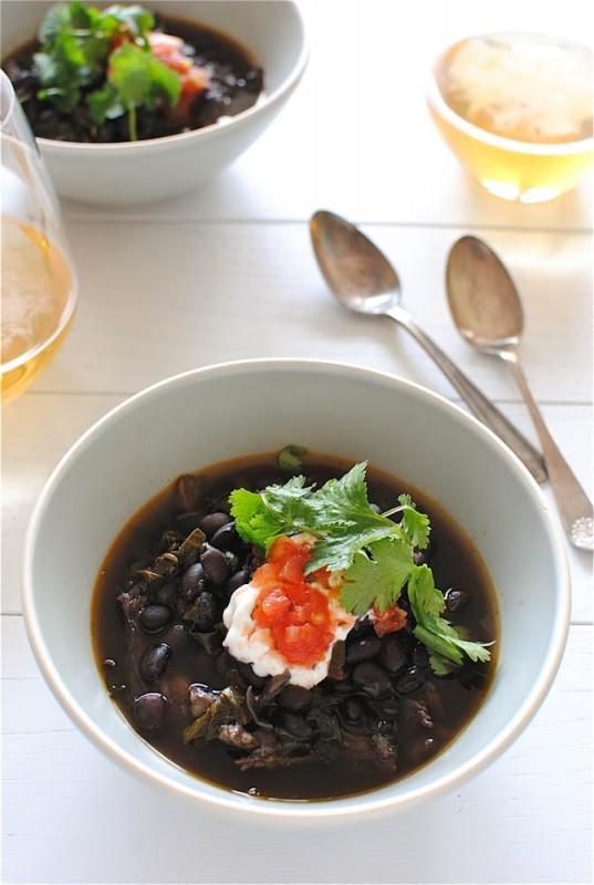 Beery Black Bean and Pork Soup / Bev Cooks