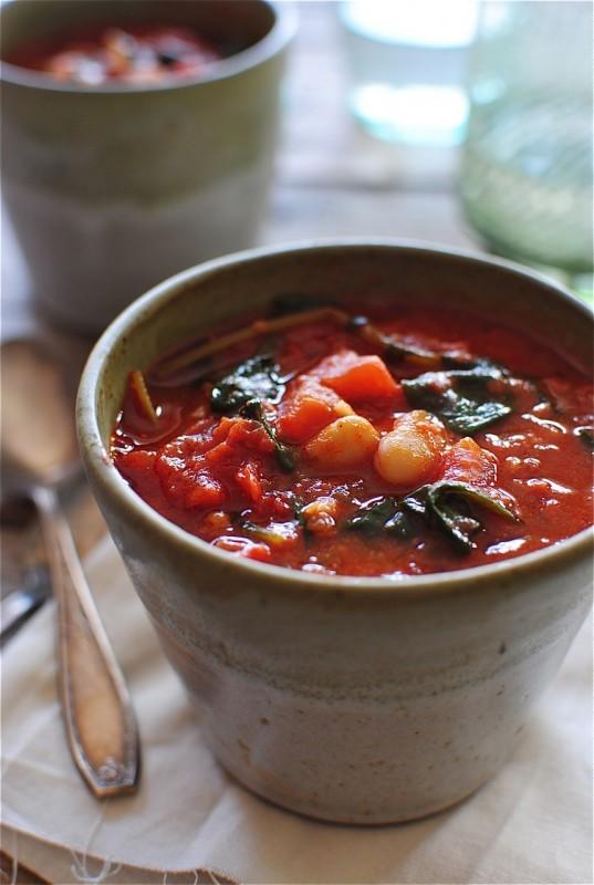 Smoked Chorizo and White Bean Soup / Bev Cooks