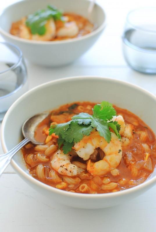 BBQ Shrimp Minestrone / Bev Cooks