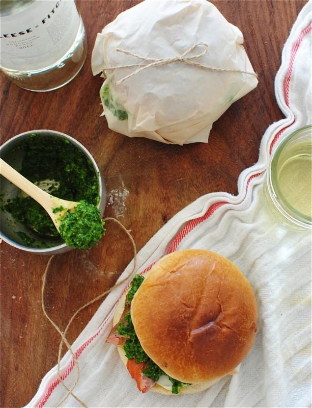Smoked Salmon and Parsley Pesto Sandwiches / Bev Cooks