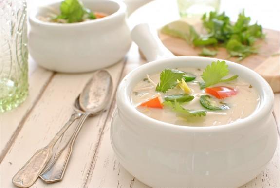 Slow Cooker Thai Chicken Soup / Bev Cooks
