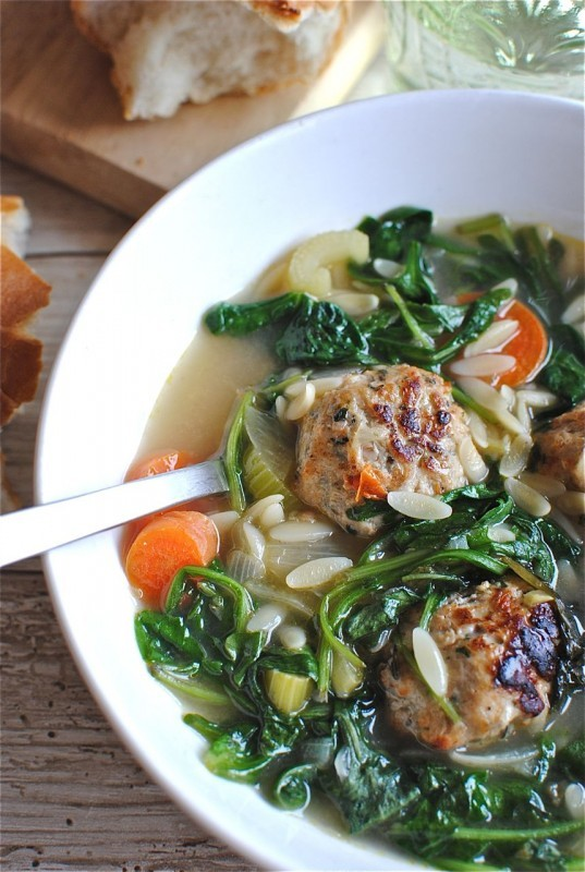 Weeknight Italian Wedding Soup / Bev Cooks
