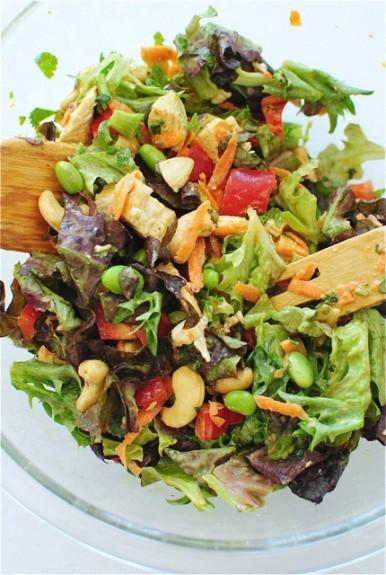 Thai Cashew Chicken Salad / Bev Cooks