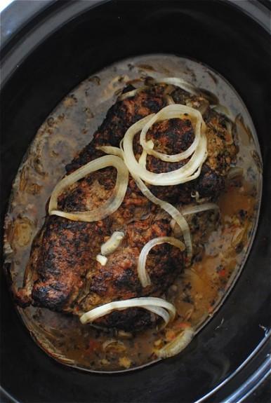 Slow Cooker Cuban Sliders / Bev Cooks